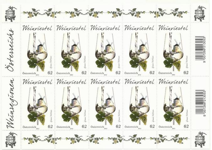 Briefmarken - Briefmarken mit Zierfeldern Allongen (bedruckte Zierfelder) K640_k10