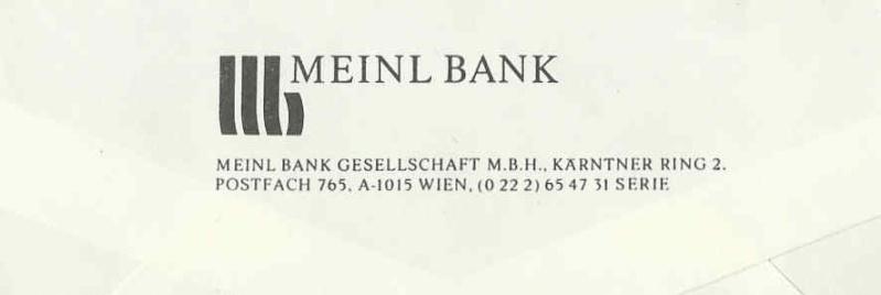 Briefe / Poststücke österreichischer Banken - Seite 2 Meinl210