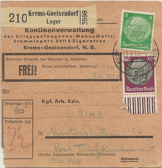 Österreich im III. Reich (Ostmark) Belege - Seite 2 Paketk10