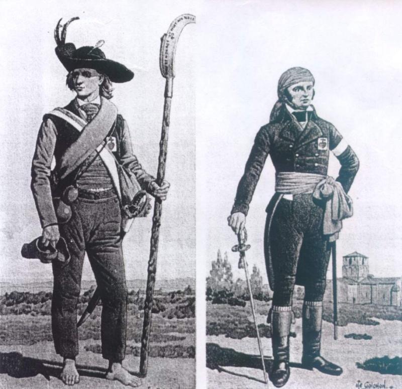 Uniformologie guerres de Vendée Goicho10