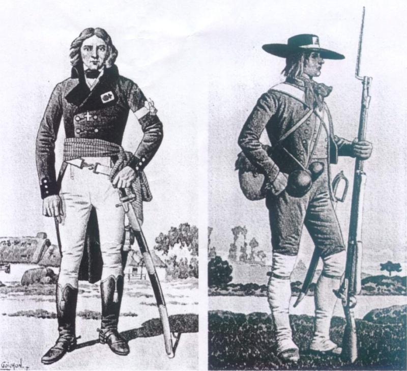 Uniformologie guerres de Vendée Goicho12