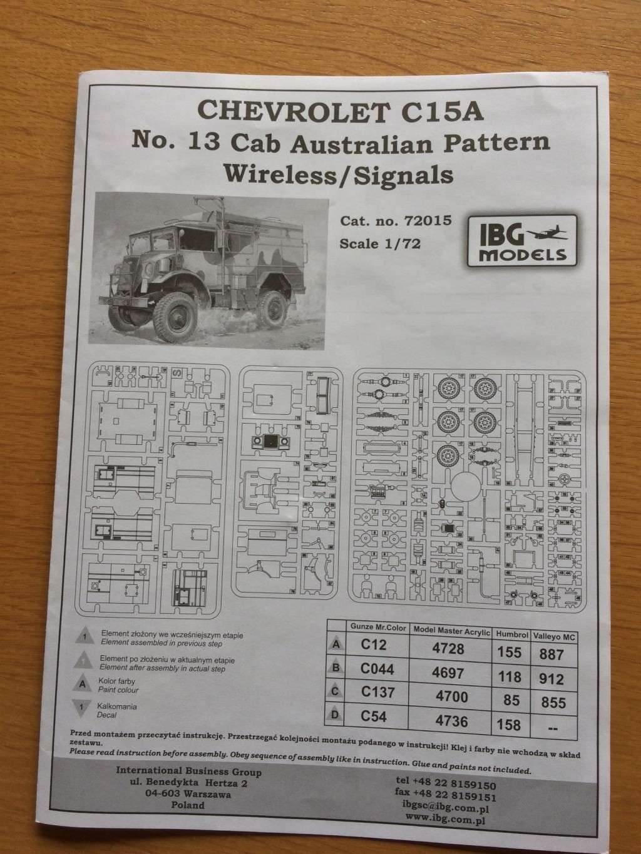 CHEVROLET C15a n13 CAB IBG 72015 + photodécoupe PART  01387e10