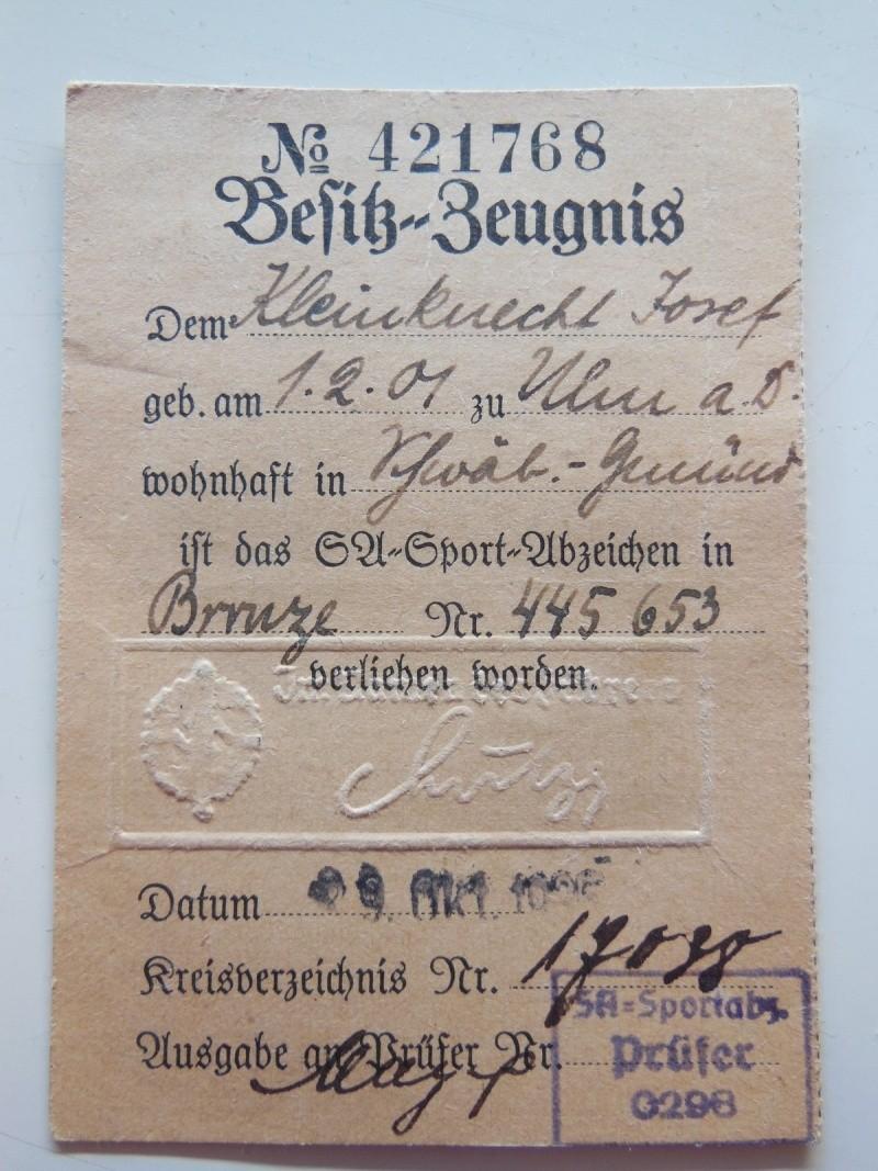 Document + Brevet Sportif de la SA - classe bronze Dscn8364