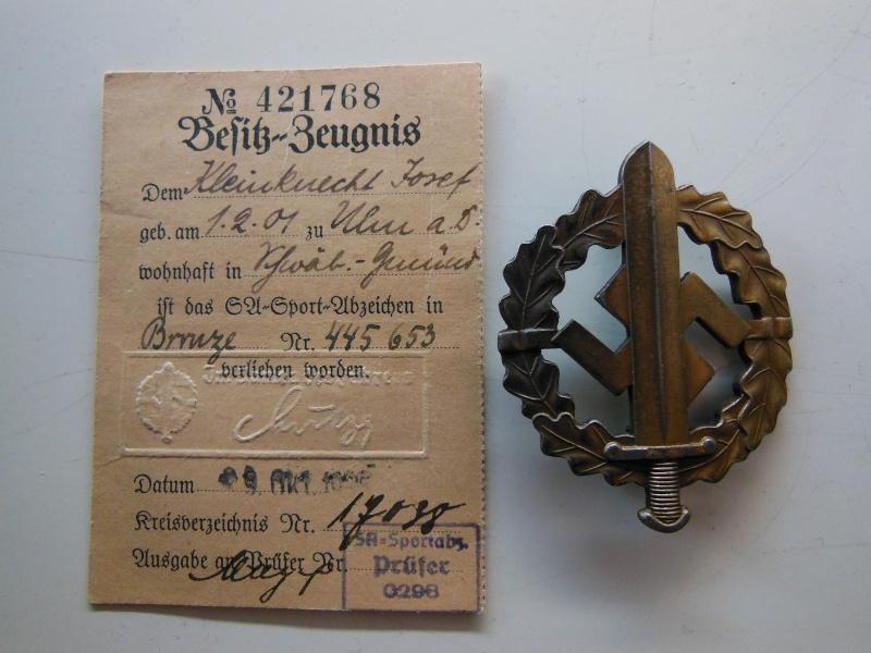 Document + Brevet Sportif de la SA - classe bronze Dscn8415