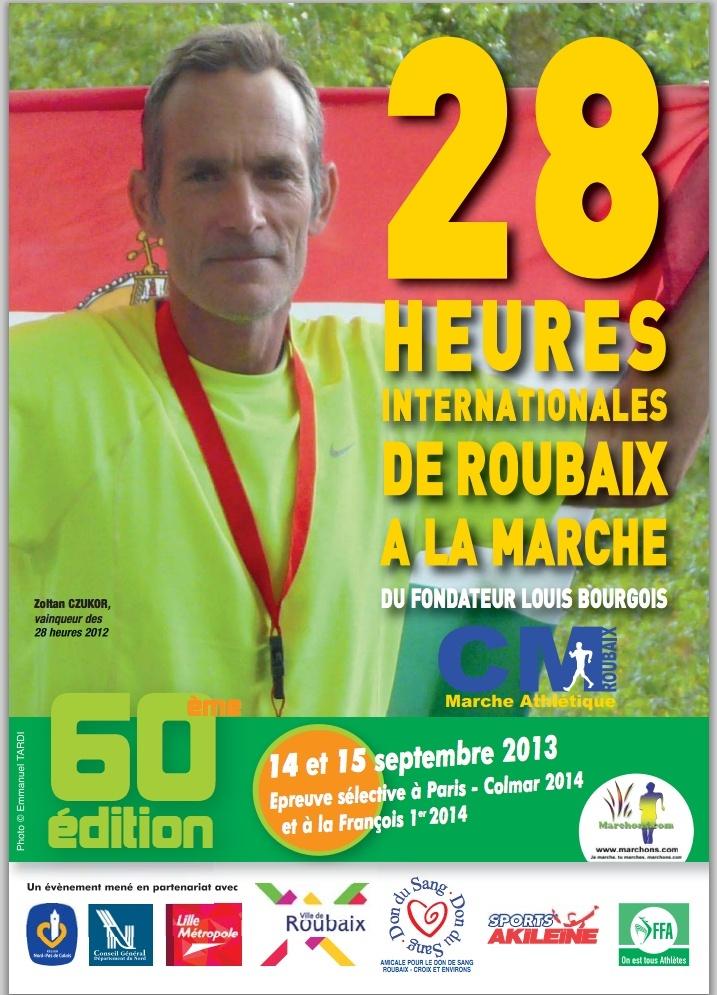 28 heures de ROUBAIX 2013 14 15 septembre Affich10