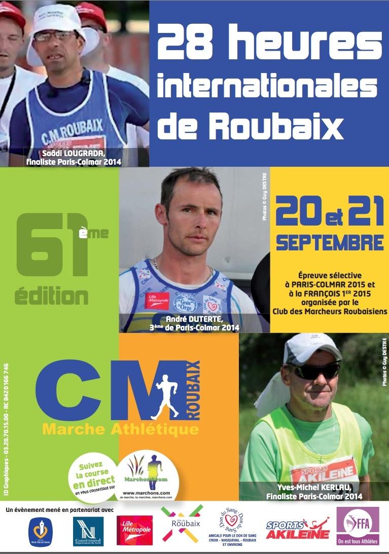 28 heures de Roubaix: 20-21 septembre 2014 Affich11