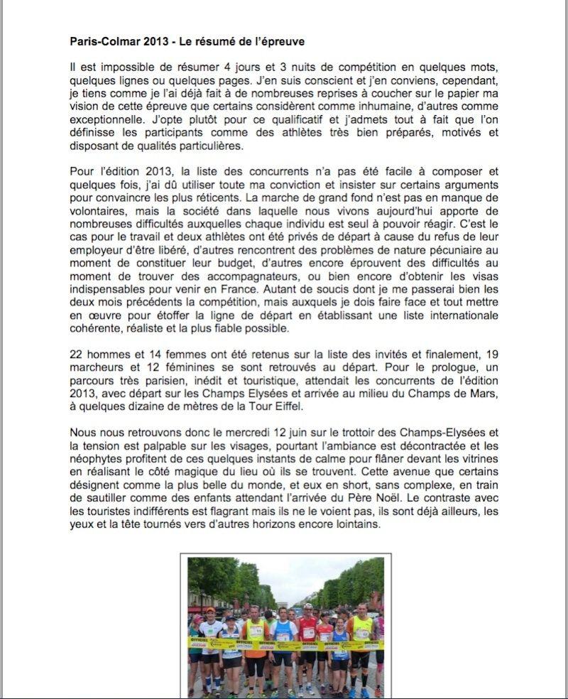 Jean CECILLON  (résumé de Paris-Colmar 2013) - Page 2 Ceillo10