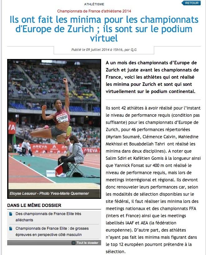 Championnat d'athlétisme; Zurich 12-15 août 2014 Ch_de_10