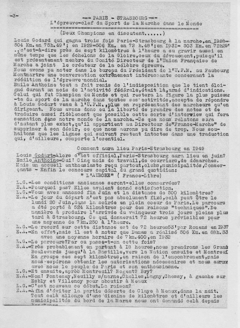 Paris -Strasbourg comment en1949 Emile_11
