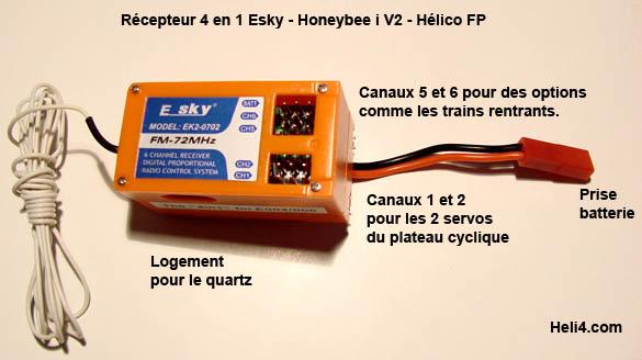 Radio 7 voies programmable 2,4ghz WFT07 + 1 Récepteur 2,4ghz Recept10