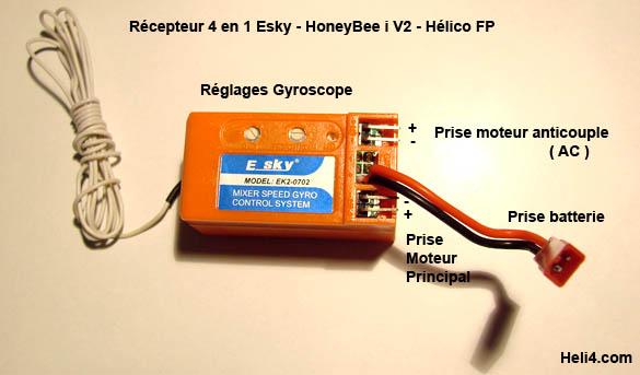 Radio 7 voies programmable 2,4ghz WFT07 + 1 Récepteur 2,4ghz Recept11
