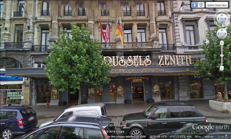 Lieux de tournage de vidéo-clip découverts avec Google Earth Bruxel12