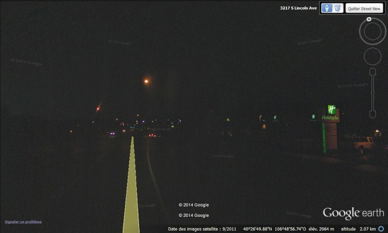 STREET VIEW - Quant la Google Car ne compte pas ses heures ... ça donne ça ! (Steamboat Springs - Etats-Unis) Nuit10