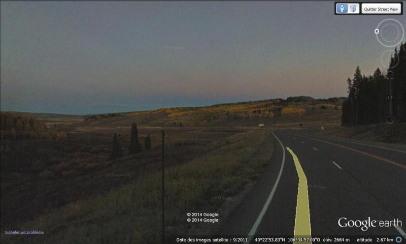 STREET VIEW - Quant la Google Car ne compte pas ses heures ... ça donne ça ! (Steamboat Springs - Etats-Unis) Nuit_110