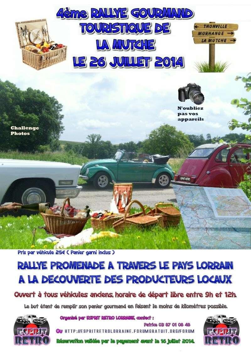 4ème rallye gourmand de la Mutche (57) le 26 Juillet 2014. Affich10