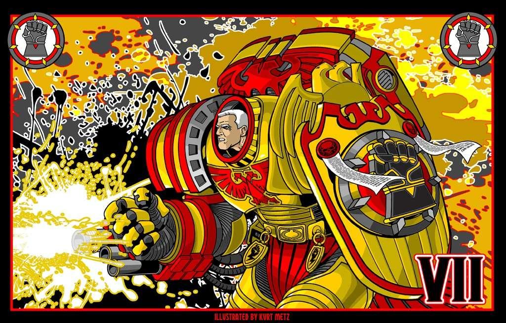 "[W40K] L'empereur et les primarques selon ""lord-solar(kurt-metz)"" C0343d10"