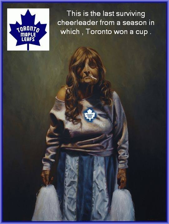 Maple Leafs history revealed...wow...a cheerleader Photo10