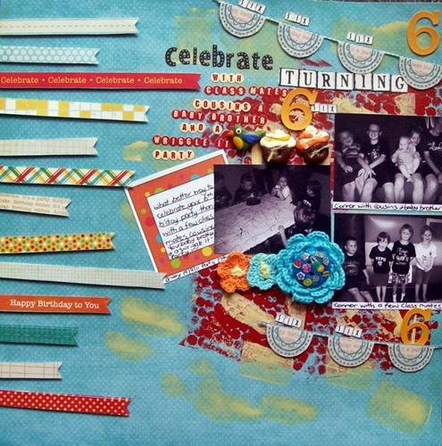 Patterned Paper challenge GALLERY Celebr10