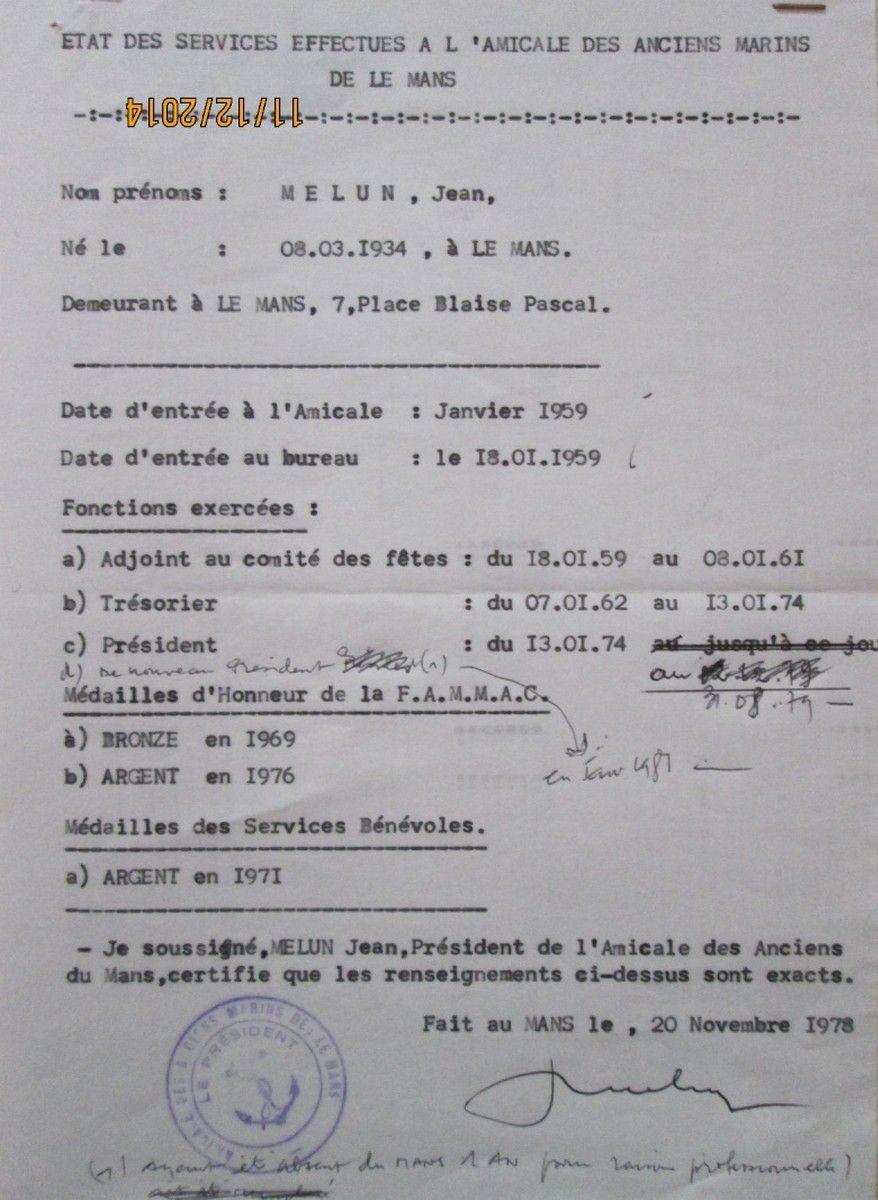 [ Associations anciens Marins ] AMICALE DES ANCIENS MARINS DU MANS (année 1959-1980) 2109