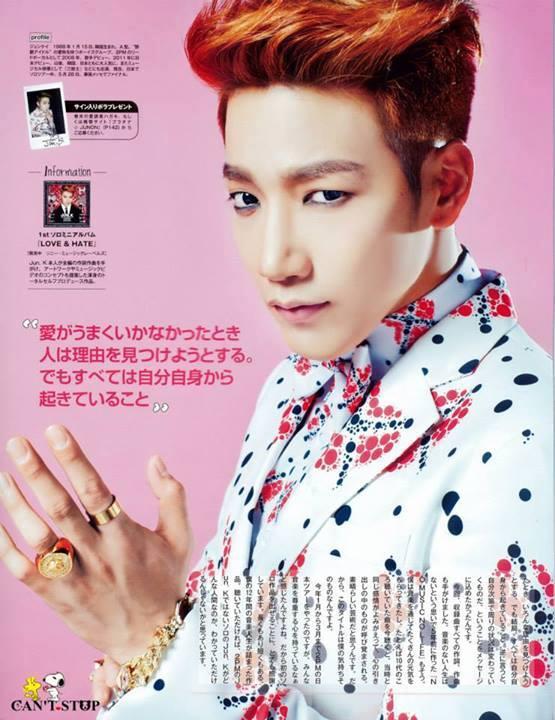 [30.05.14] [PICS] Jun.K pour le magazine JUNON 110