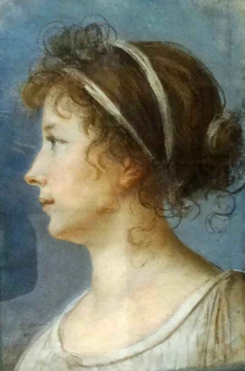 Tentative de retrouver un tableau d'après un dessin de femme au turban Elisab10