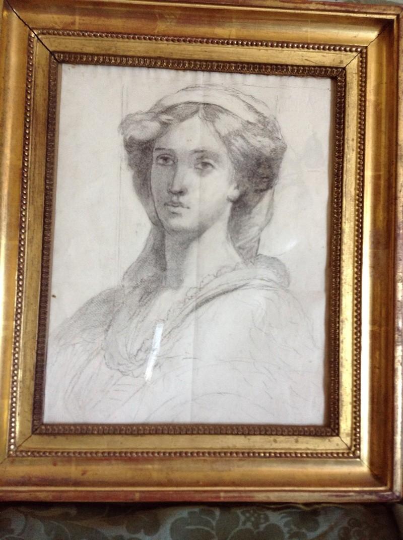 Tentative de retrouver un tableau d'après un portrait de femme renaissance Img_0115