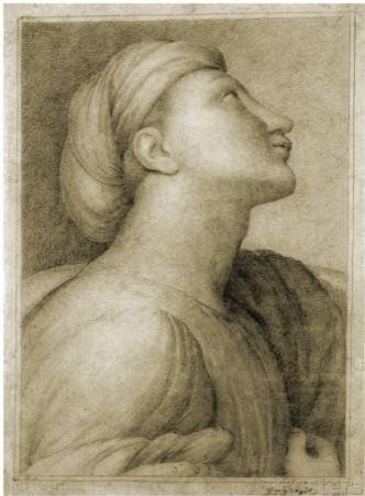 Tentative de retrouver un tableau d'après un dessin de femme au turban Ingres10