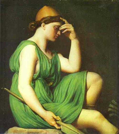 Tentative de retrouver un tableau d'après un dessin de femme au turban Ingres11