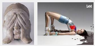 Juxtapositions oulipiennes d'images - Poésie des contrastes Mondie10