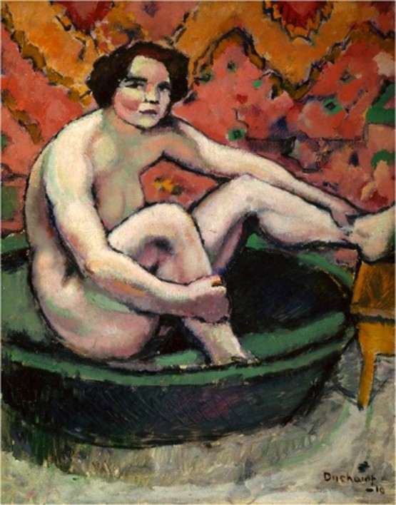 Marcel Duchamp, La peinture, même (expo centre pompidou -> janvier 2015) Nu-ass10