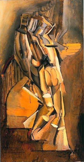 Marcel Duchamp, La peinture, même (expo centre pompidou -> janvier 2015) Nu_des11