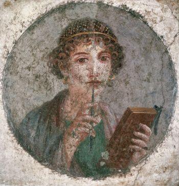 Tentative de retrouver un tableau d'après un portrait de femme renaissance Pompei10