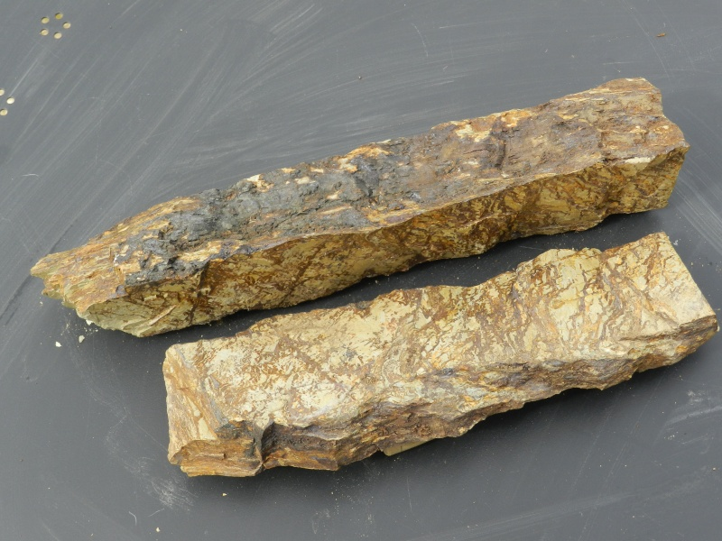 Pierres ramassées lors d'une excavation de la LGV en Mayenne Vauvyr55