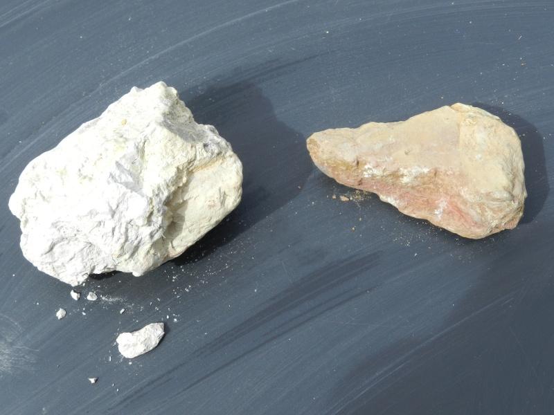 Pierres ramassées lors d'une excavation de la LGV en Mayenne Vauvyr58