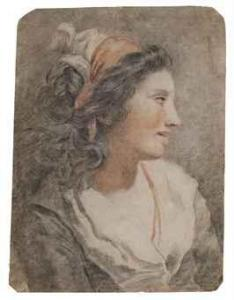 Tentative de retrouver un tableau d'après un dessin de femme au turban Vincen10