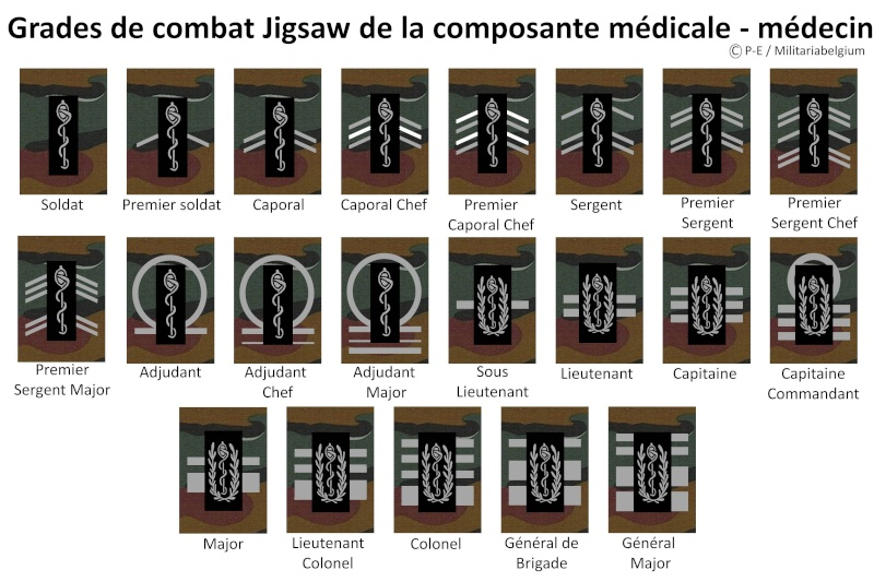 Belgium army ranks Diapos13