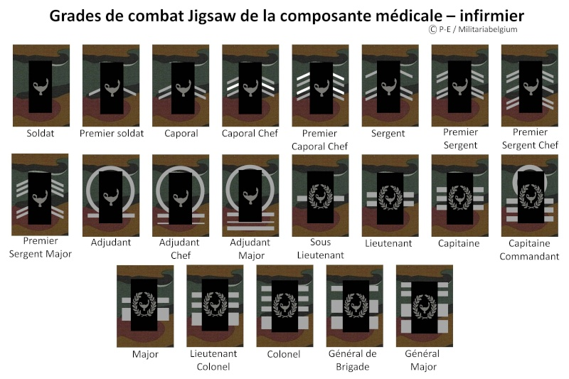 Belgium army ranks Diapos17