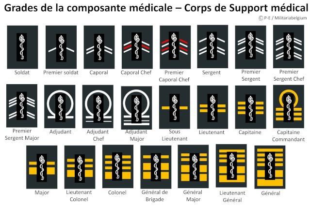 Belgium army ranks Diapos25