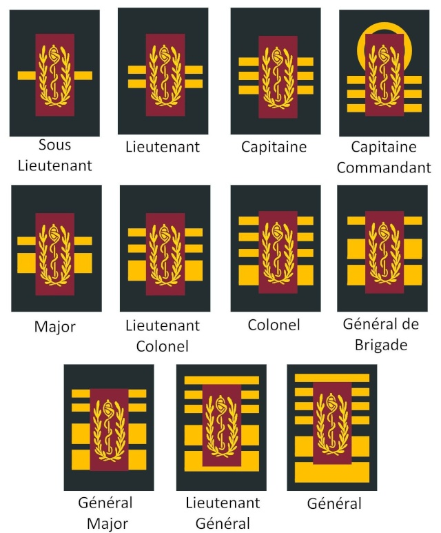 Belgium army ranks Diapos31