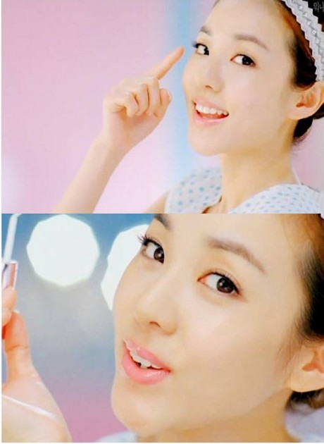 Sandara's milky complexion looks similar to Eugene in Etude  D110