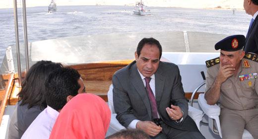 قناة السويس الجديدة قاطرة التنمية والاقتصاد  في مصر . 2014-612