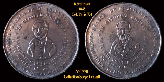 Médaille de la Révolution de 1848 ... 177010