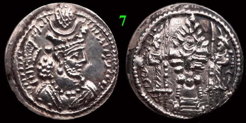 Drachmes Sassanides, oui mais ... 710