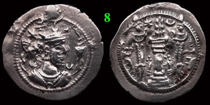 Drachmes Sassanides, oui mais ... 810