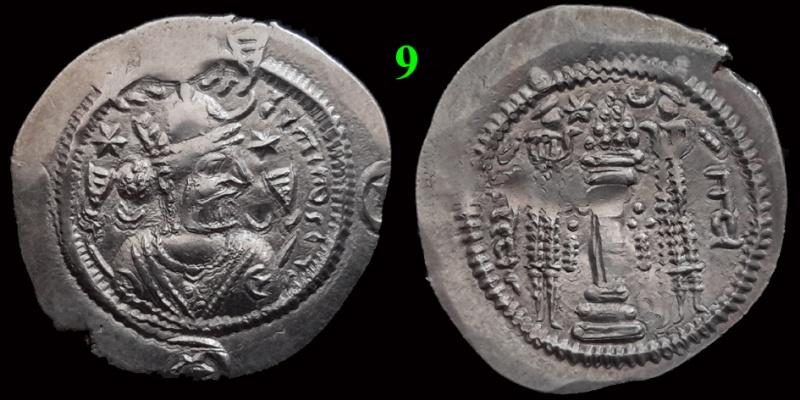 Drachmes Sassanides, oui mais ... 910