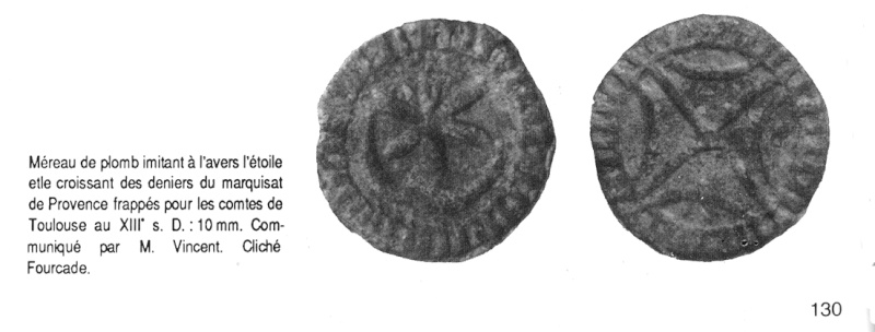 Méreau à ID (résolu ) , méreau du XIIIème , sud de France ou Aragon Mareau10