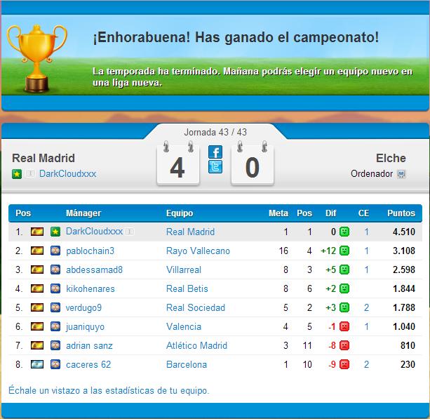 Real Madrid (Mayo-Junio 2014) Liga BBVA Ultimo10