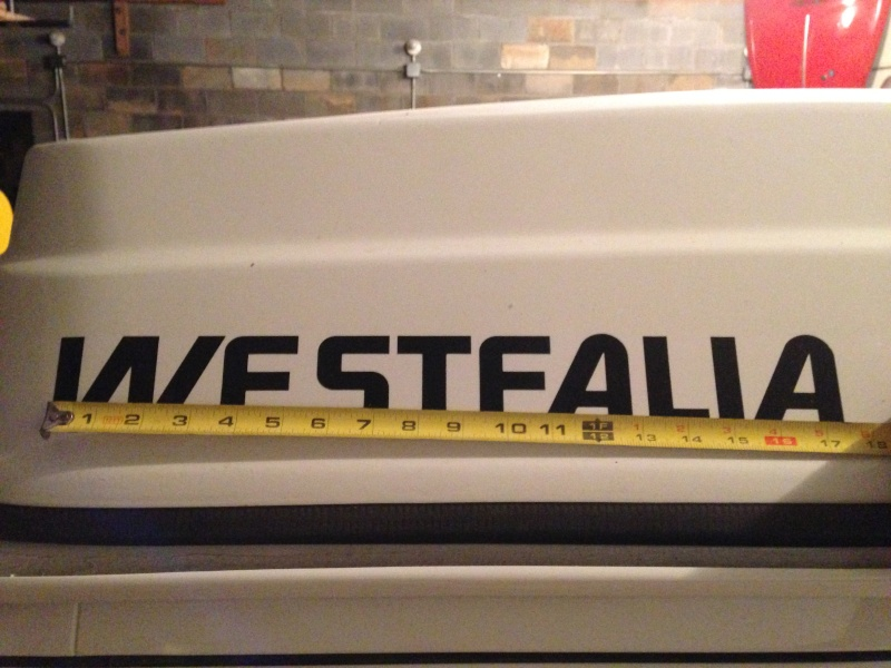 Do you have a Westfalia with the sticker on the top? 2014-012
