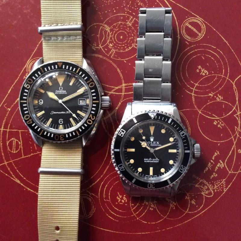 rolex - Le match du mois de septembre 2014 : Rolex 5513 face à Omega Seamaster 300 (le duel des mamies) Img_1212