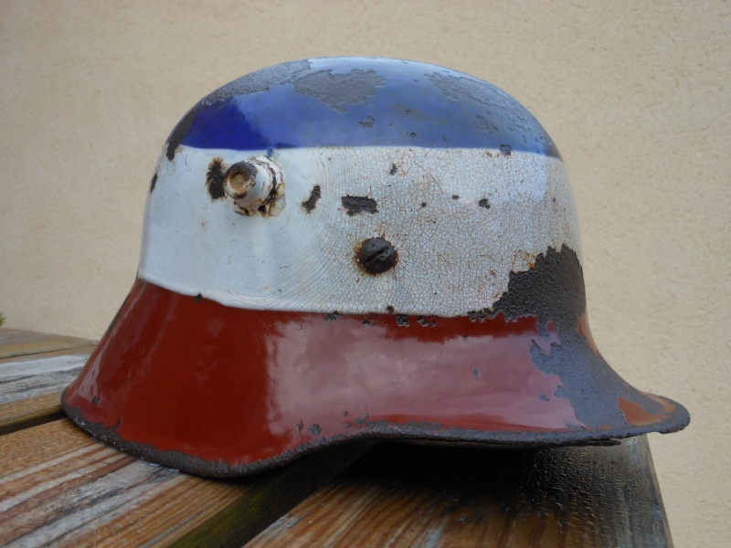 Stahlhelm M 1918 patriotique... Dscn0628